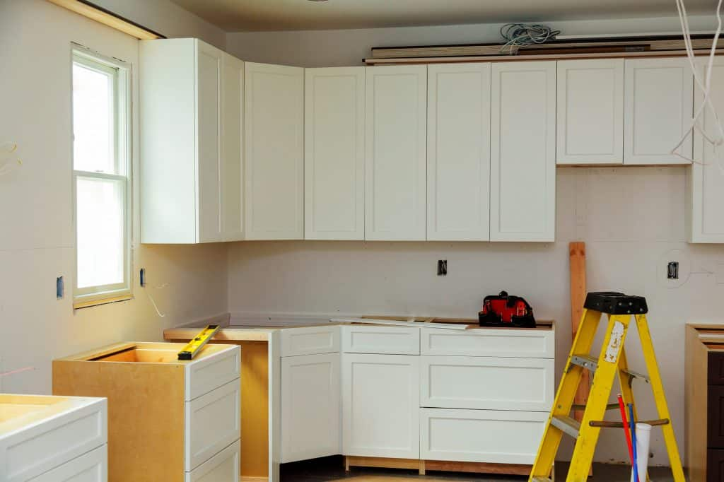 kitchen cabinets before sanding