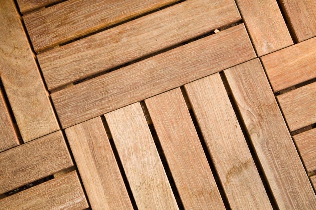 wooden outdoor deck