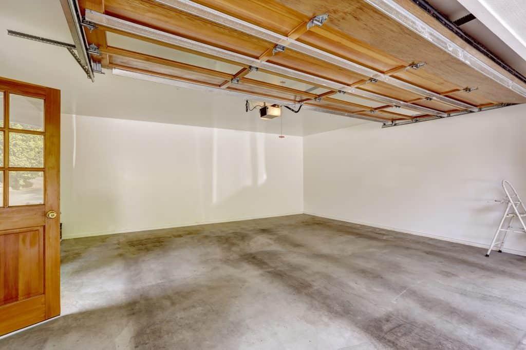 empty garage with concrete floor