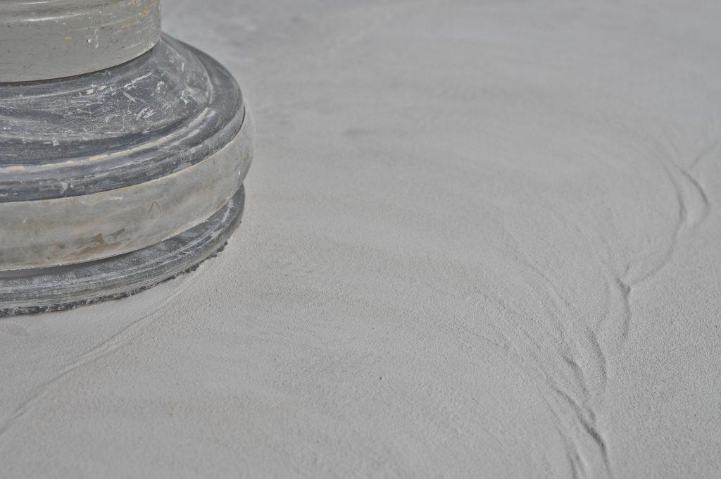 sanded concrete floor, close up